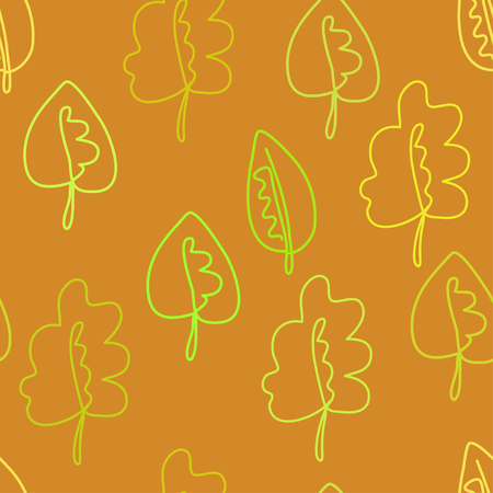 fallen leaves: autumn fallen leaves. seamless floral pattern, graphic leaves