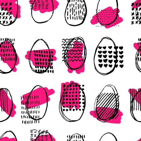 elipse: Modelo inconsútil con los huevos. Felices Pascuas. patrón abstracto elipse.