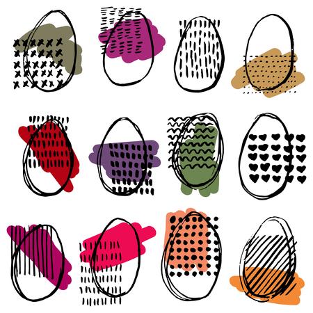 elipse: Modelo con los huevos. Felices Pascuas. patrón abstracto elipse.