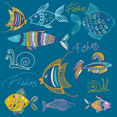bream: set of vector fishes