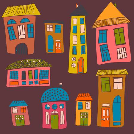 urban landscape: Urban landscape. Set of the houses