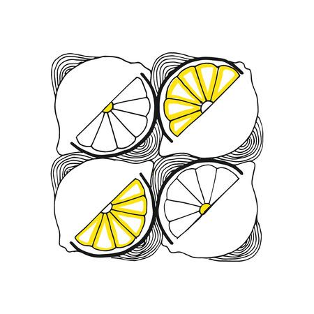 zest: hand-drawn pattern of lemon slices