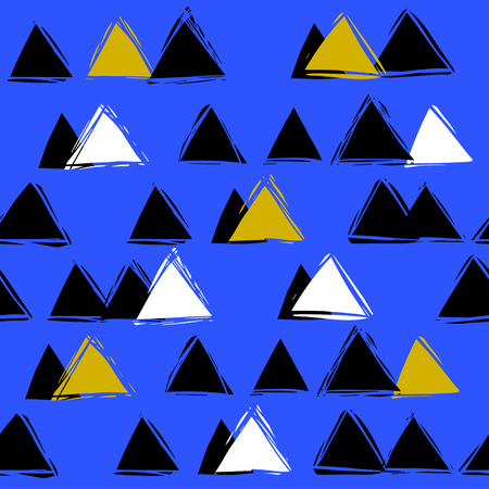 mountaintop: Scandinavian style. seamless abstract pattern with triangles. Mountain landscape
