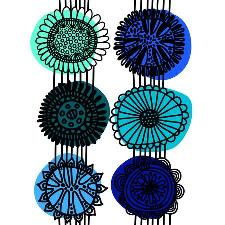 scandinavian: Seamless scandinavian pattern with flowers Illustration