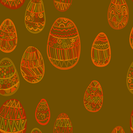 ellipse: Seamless pattern with eggs. Happy easter. Abstract ellipse pattern.