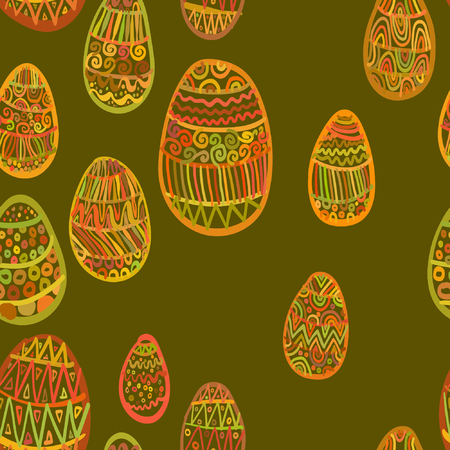 elipse: Modelo inconsútil con los huevos de Pascua feliz abstracto del modelo elipse.