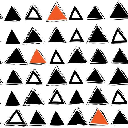 Scandinavian style. black and white seamless abstract pattern with triangles.