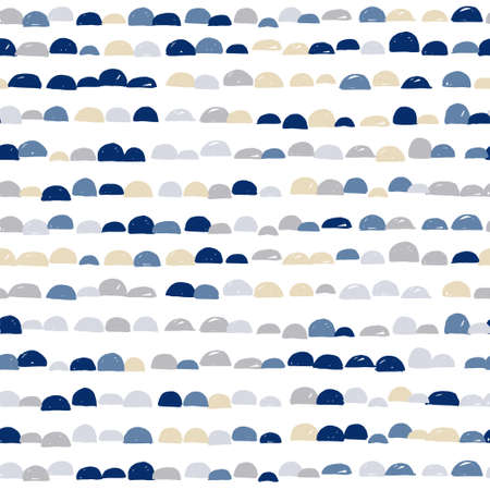 Abstract cute colorful semicircle moon design with white background, pattern seamless backdrop wallpaper.