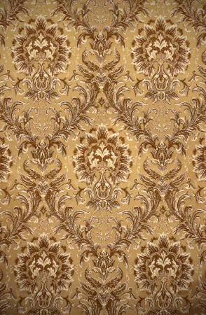 retro golden damask pattern photo