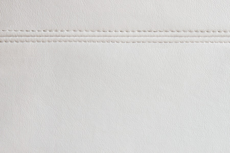White leather texture background with a  seam Stock Photo