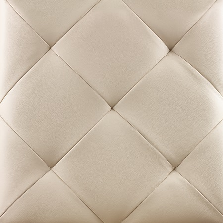 White genuine leather upholstery background. Luxury pattern. Stock Photo