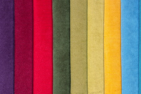 Color samples of a upholstery fabric Stockfoto - 96698623