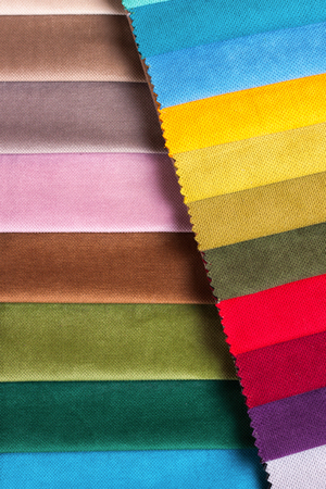 Color samples of a upholstery fabric Stockfoto - 96698624