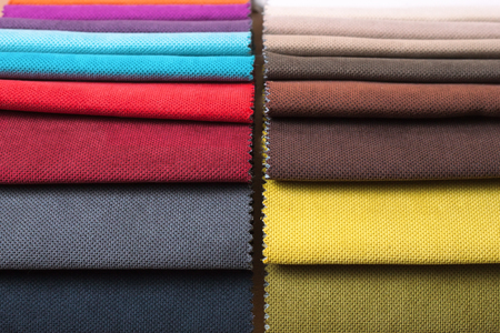 Color samples of a upholstery fabric