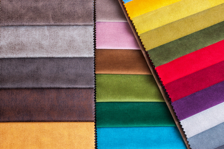 Color samples of a upholstery fabric Stockfoto - 96550756