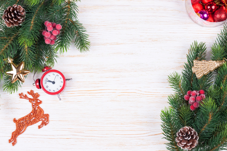 Cristmas and New Year background. top view, flat lay. Stockfoto - 124940442
