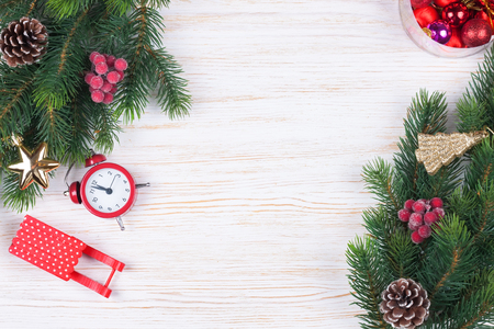Cristmas and New Year background. top view, flat lay. Stockfoto - 124940687
