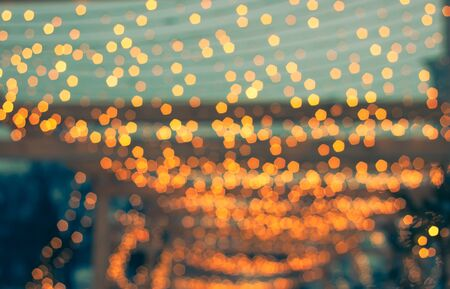 abstract background of colorful blurred lights with bokeh effect.