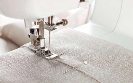 Close-up of modern sewing machine presser foot and needle Zdjęcie Seryjne