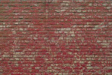 Red grunge brick wall background