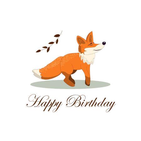 fox vector drawing hand drawn illustration for design