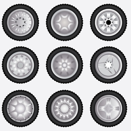 Vector alloy wheels Stock Vector - 11473311