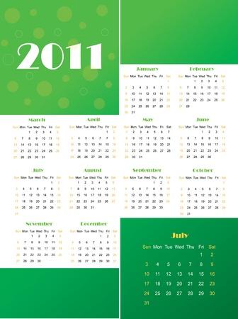 2011 calendar Stock Vector - 11473321