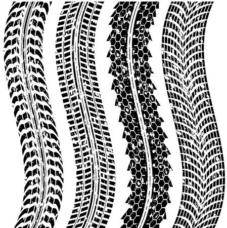 huellas de neumaticos: sucias huellas de los neumáticos