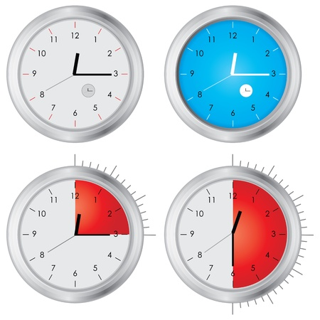 special vector clock Stock Vector - 11473327