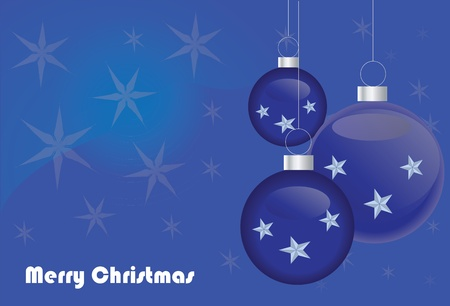 special blue Merry Christmas background Stock Vector - 11473334