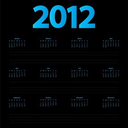 special 2012 calendar  Stock Vector - 11473348