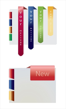 specia tickers and banners set Illustration