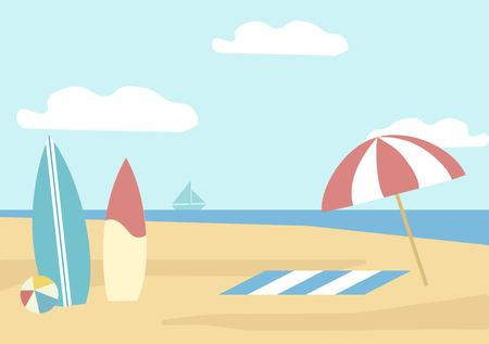 Beach holidays illustration Çizim