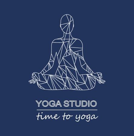 Girl in yoga  イラスト・ベクター素材