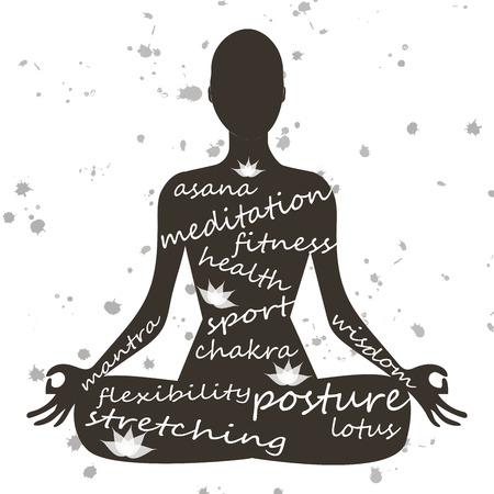 Girl in yoga Ilustrace