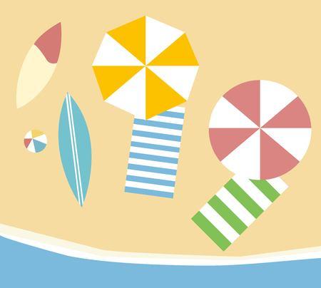 Beach holiday design Illustration