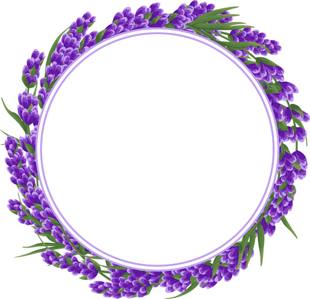 background of purple lavender flowers, watercolor style flowers. elegant flowers. vector illustration.lavender background for text, card template, invitation, banner, business cards, fabric. Illustration