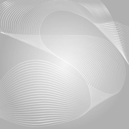 Wave of the many colored lines. Abstract wavy stripes on a white background isolated. Creative line art. Vector illustration. Design elements created using the Blend Tool. Curved smooth tape