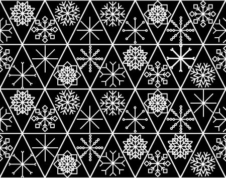 Seamless pattern with hand drawn snowflakes. Abstract brush strokes. Ink illustration. Winter pattern for wrapping paper.vector illustration. Zdjęcie Seryjne - 127666198