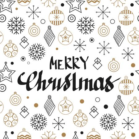 Christmas cards and Happy new year 2019. Holiday vector illustration with inscription compositions, snowflakes and Christmas toys. Christmas sale. Vintage Holiday Label. vector illustration