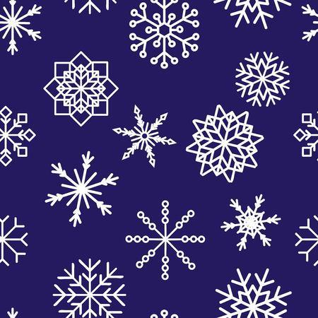 colored snowflakes falling winter modern vector background. Snowflake elements vector illustration, confetti chaotic scatter winter modern background in trendy colors. Zdjęcie Seryjne - 127383128