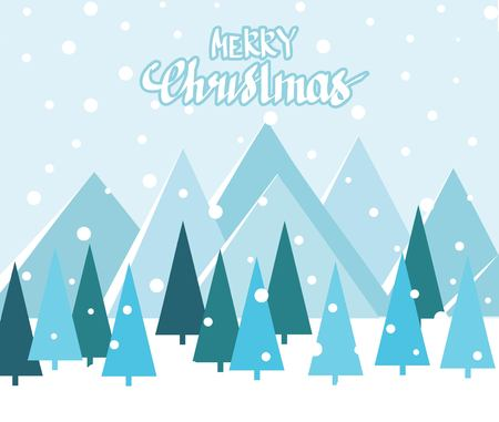 Merry Christmas Landscape. vector illustration Zdjęcie Seryjne - 127383130
