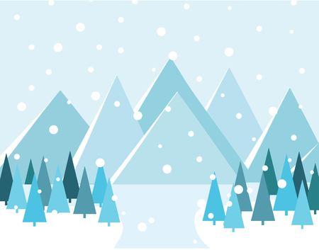 Merry Christmas Landscape. vector illustration Ilustracja