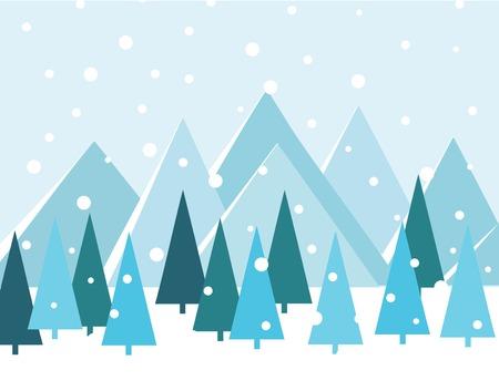 Merry Christmas Landscape. vector illustration Ilustrace