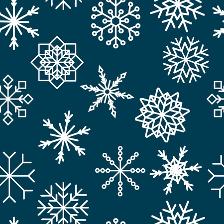 colored snowflakes falling winter modern vector background. Snowflake elements vector illustration, confetti chaotic scatter winter modern background in trendy colors. Illustration