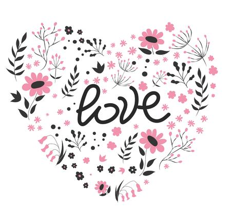 Valentine s Day hand drawn typography. Brush lettering, quote Happy Valentine s Day . For holiday greeting card, poster, banner, logo, sale or discount design. Day of love and heart, February 14. vector