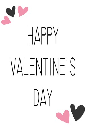 Happy Valentines Day typography poster with handwritten calligraphy text, isolated on white background. Vector Ilustracja