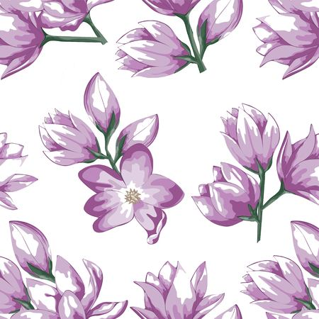 a pattern of delicate flowers pink spring