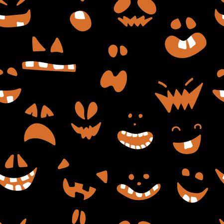 Halloween pattern with black background design. Zdjęcie Seryjne - 131069956