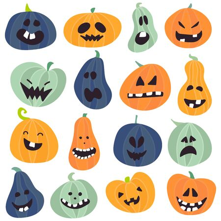 Abstract colorful Halloween,illustration background with Pumpkins . vector